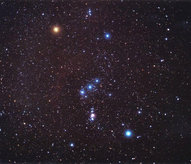 созвездие орион на небе Мне